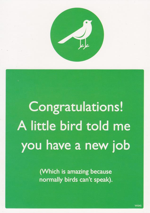 congratulations on new job card