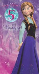 Disney Frozen - Age 5 Birthday Card