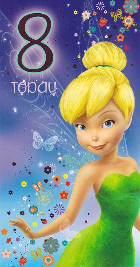 Tinker Bell 8th Birthday Card CardSpark – Tinkerbell Birthday Card