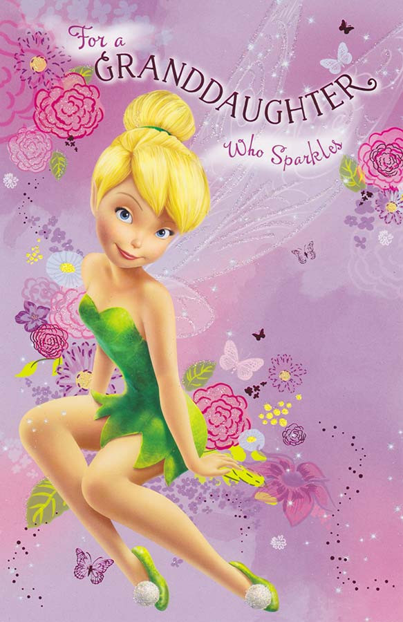 Tinker Bell Granddaughter Birthday Card CardSpark – Tinkerbell Birthday Card