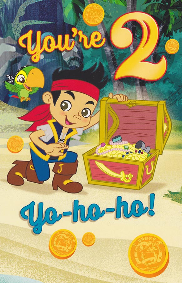 Jake And The Never Land Pirates 2 Today Birthday Card CardSpark – 2nd Birthday Cards
