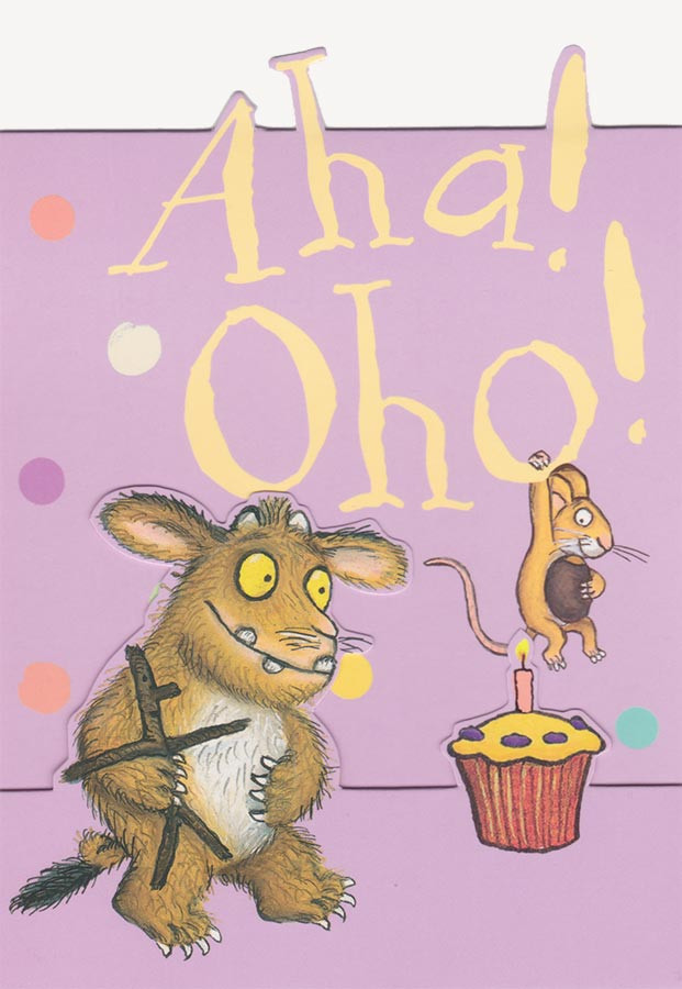 The Gruffalos Child Birthday Card Aha Oho PopOut CardSpark – Birthday Card for Child
