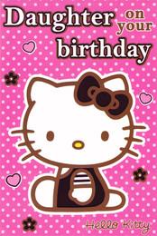 Hello Kitty Daughter Birthday Card [Classic]