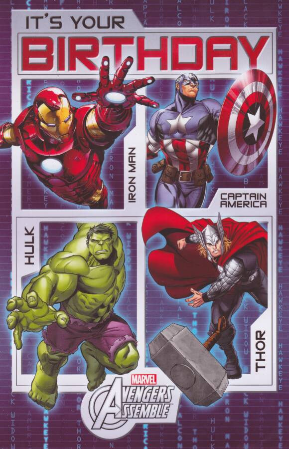 Marvel avengers its your birthday card cardspark the avengers its your birthday card loading zoom bookmarktalkfo Images