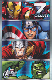 Marvel Avengers - Age 7 Birthday Card