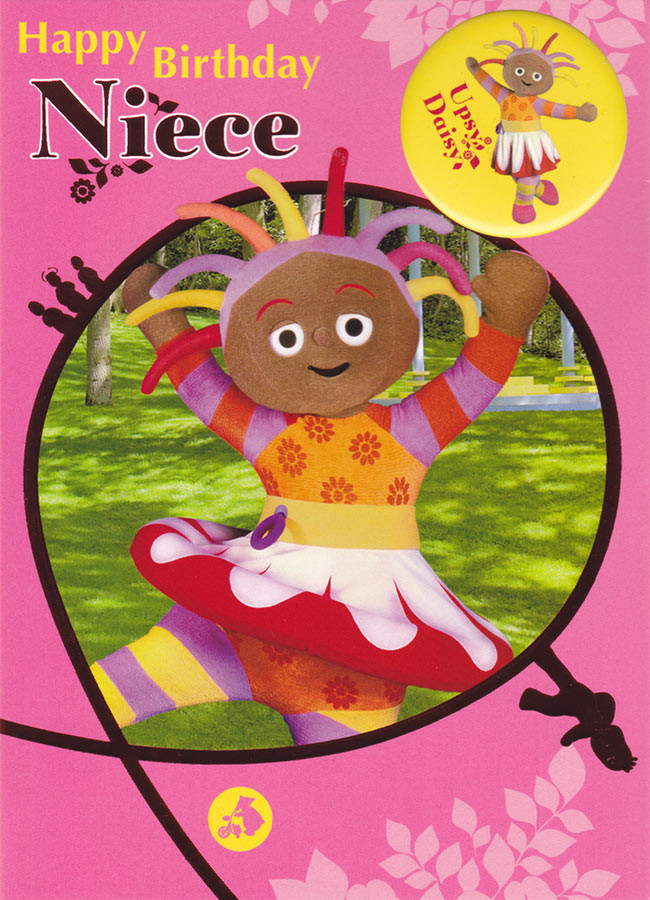 In The Night Garden Niece Birthday Card With Badge CardSpark – Niece Birthday Card