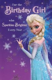 Frozen - Birthday Girl Card