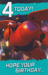 Disney's Big Hero 6 - Age 4 Birthday Card