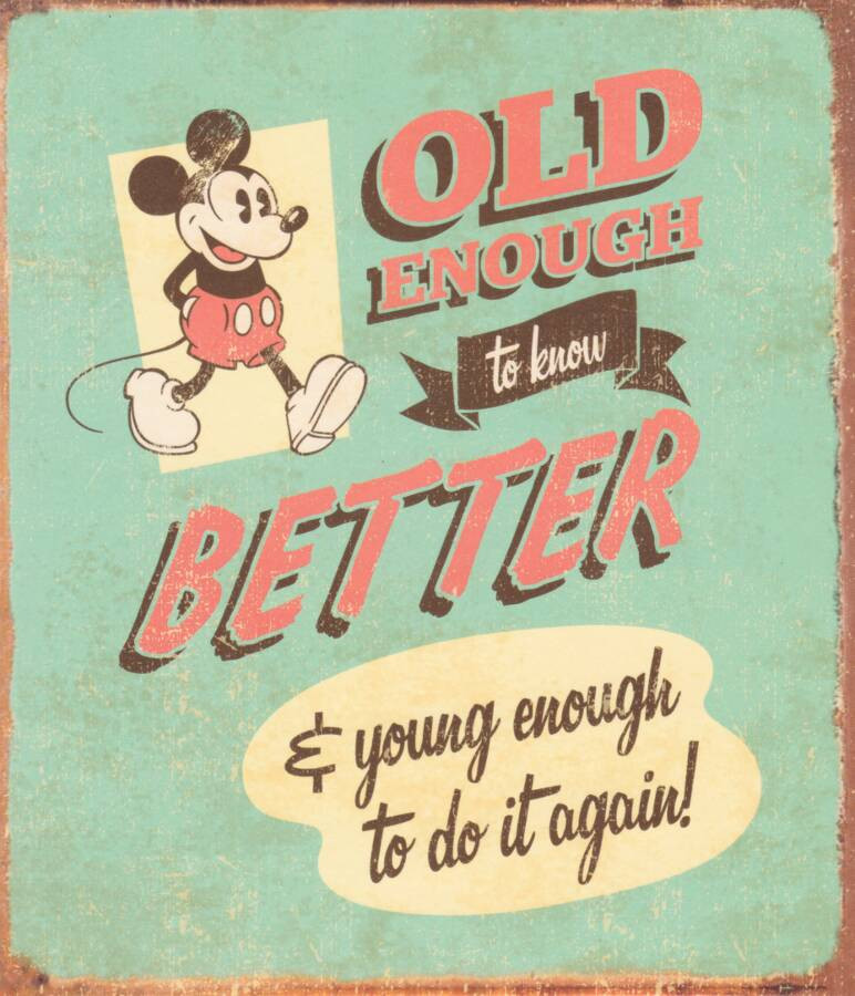 Retro mickey mouse old enough birthday card cardspark loading zoom bookmarktalkfo Gallery
