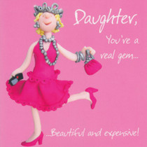 Daughter Birthday Card - One Lump Or Two