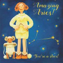 Aries Star Sign Zodiac Birthday Card