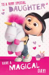 Minion Made - Daughter Birthday Card - Pink