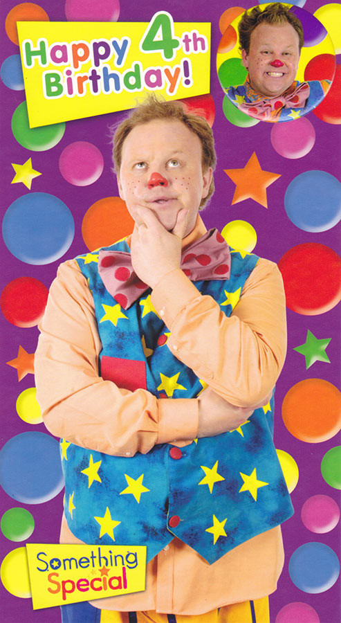 Mr Tumble Something Special Age 4 Birthday Card With Badge – Mr Tumble Birthday Card