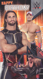 Wwe wrestling birthday cards cardspark the undertaker seth rollins and john cena birthday card bookmarktalkfo Gallery