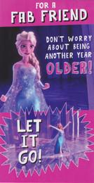 Disney Frozen - Friend Birthday Card