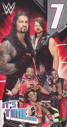 Wwe wrestling birthday cards cardspark wwe 7th birthday card bookmarktalkfo Image collections