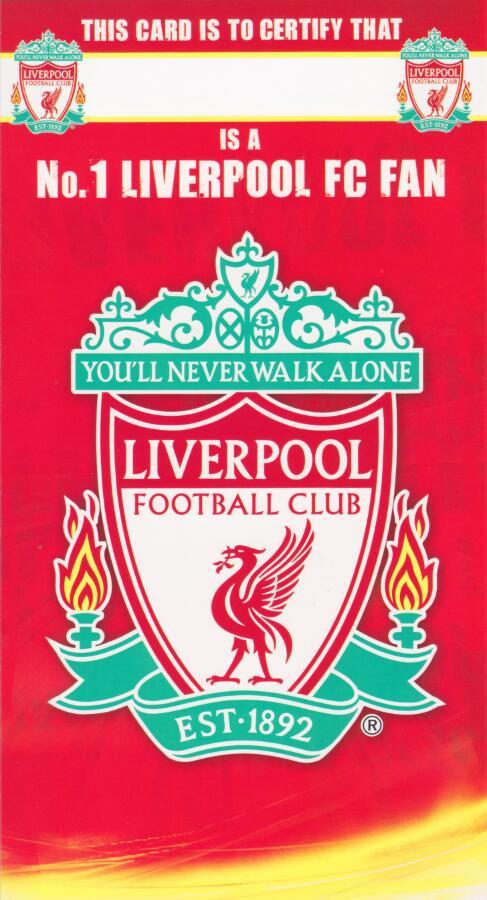 Liverpool football club birthday card number 1 fan cardspark liverpool football club birthday card number 1 fan bookmarktalkfo Choice Image