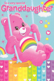 Care Bears - Granddaughter Greeting Card