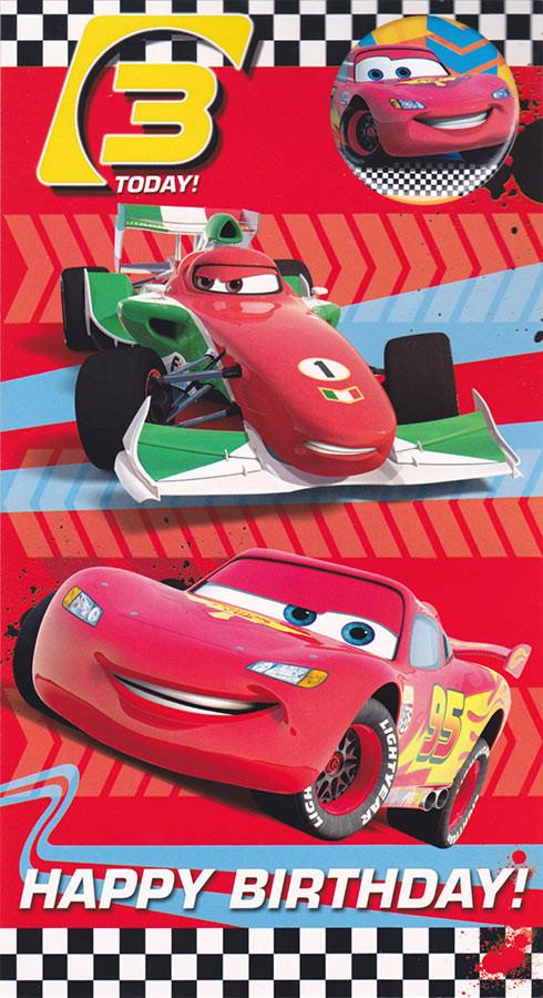 Disney Cars Birthday Card Yelomdiffusion