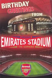 Arsenal Football Club Stadium Birthday Card Pop-Up