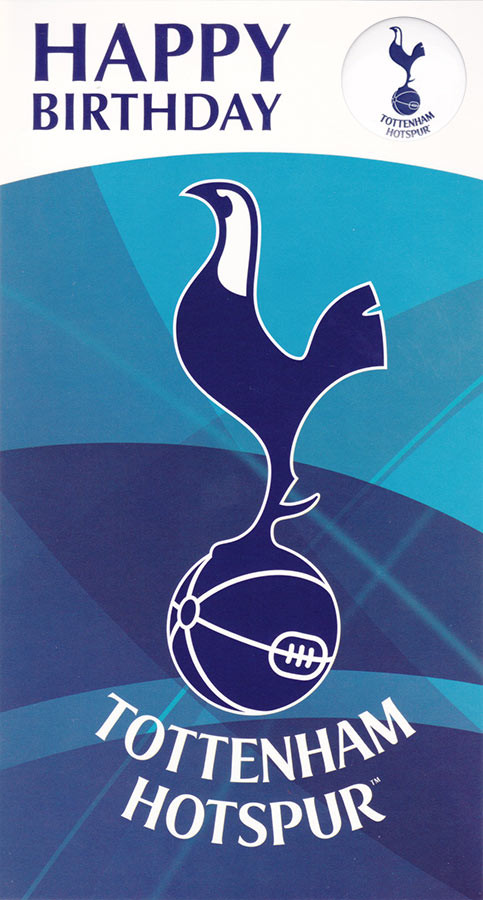 Tottenham Hotspurs Birthday Card Sound Card CardSpark – Tottenham Birthday Cards
