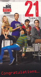 The Big Bang Theory Age 21 Birthday Card