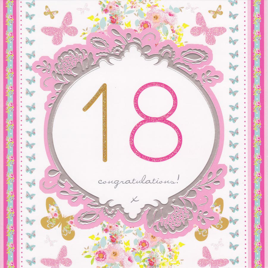 18th birthday card stephanie rose cardspark stephanie rose age 18 birthday card 18th loading zoom bookmarktalkfo Images
