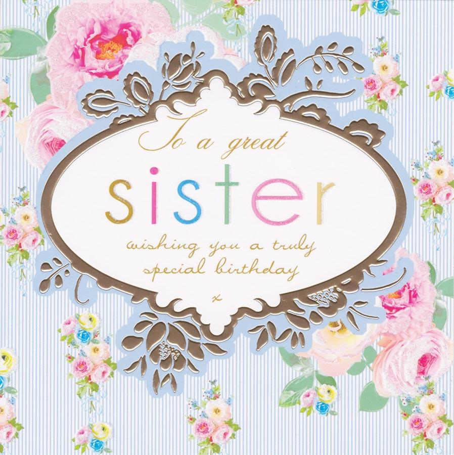 Great Sister Birthday Card Stephanie Rose Cardspark