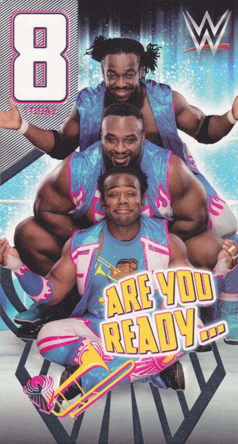 WWE Wrestling 8th Birthday Card The New Day CardSpark – Wrestling Birthday Cards