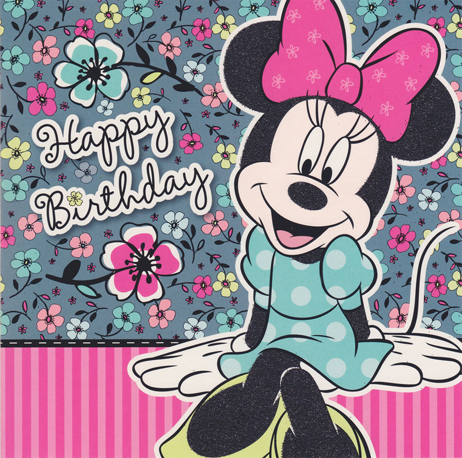 Minnie Mouse Boutique Happy Birthday Card CardSpark – Minnie Mouse Birthday Card