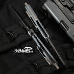 RSK Matte Blue Wharncliffe Prototype Folder (RSKMatteBlueWharncliffeProto)