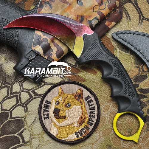 Painted Honshu Rainbow Karambit