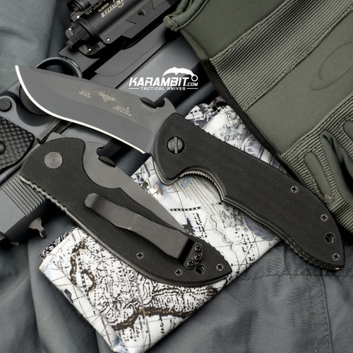 Emerson Black Mini Commander Folding Knife