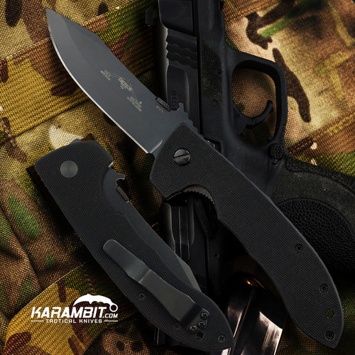 Emerson CQC-8 BT Black Folding Knife