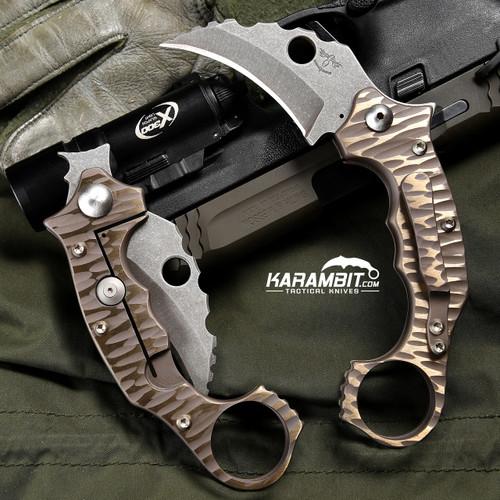 James Coogler's Bronze Rockface Smasher Prototype Flipper Karambit