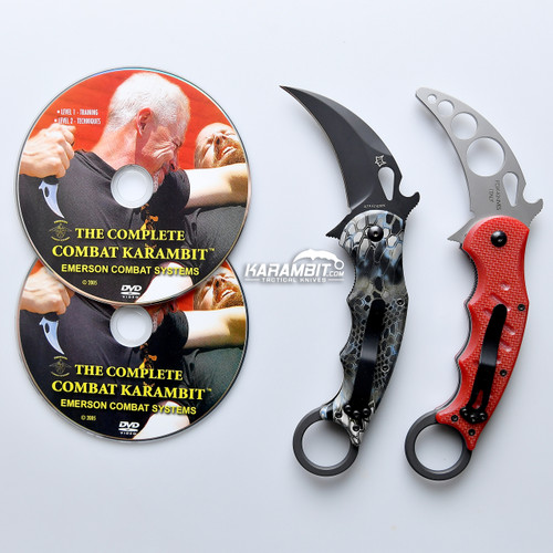 Fox 479 Kryptek Neptune Karambit & DVD Training Package - 3 in 1