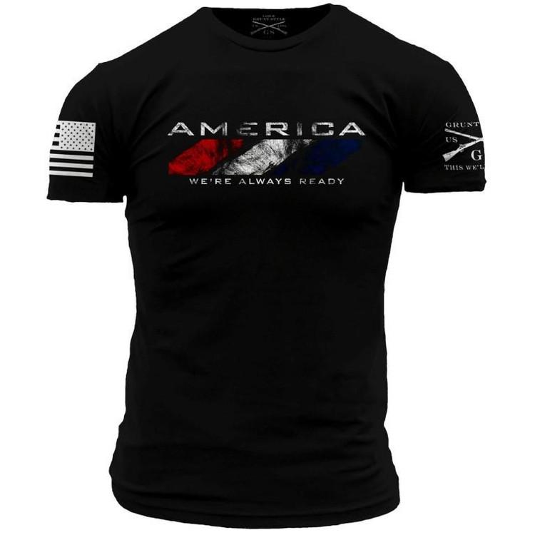 America: We're Always Ready (WAR) T-shirt (GS571)