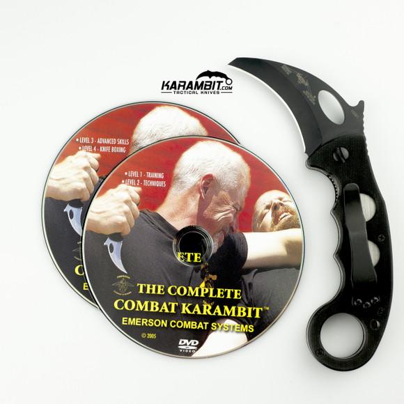 Emerson Black Combat Karambit & DVD Combo (EmersonBlkKbit+Dvd)