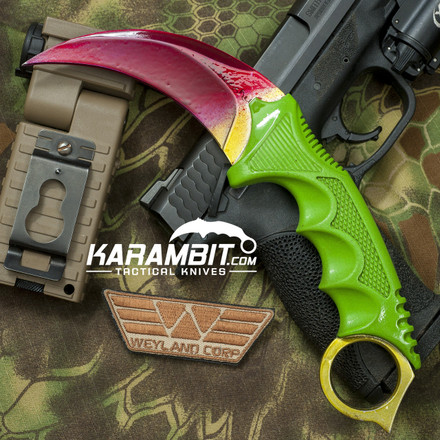 fade rainbow green handle 1  42178.1428565023.440.440 - Best Of Sheaths for Folding Knives