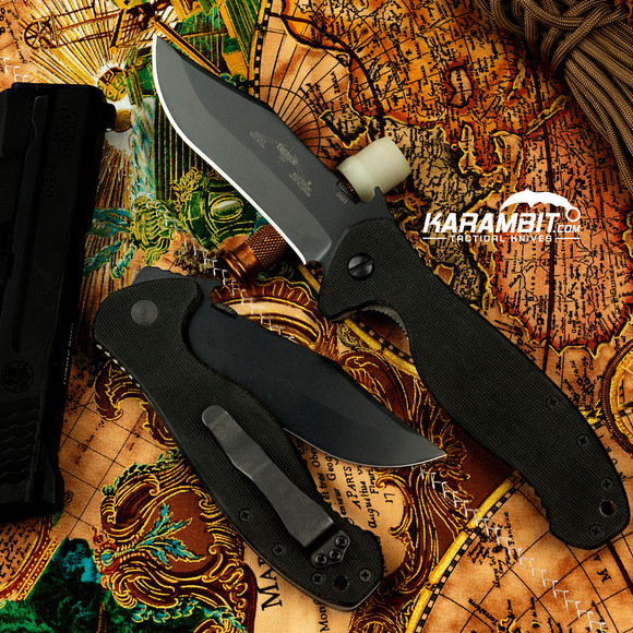 Emerson Black Patriot Folding Knife (EMR-PTRT-BT)