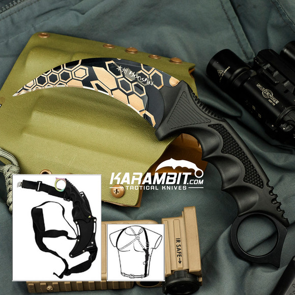 Vector Camo Skinned Karambit and Sheath (UC2791VC)