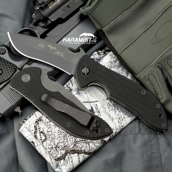 Emerson Black Mini Commander Folding Knife (EMR-Mini-Com-Blk)
