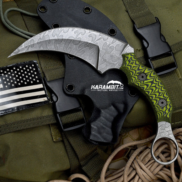James Coogler's Acid Etched Small Serration Kratos Karambit (JCooglerAcidEtchedKratosKbit)
