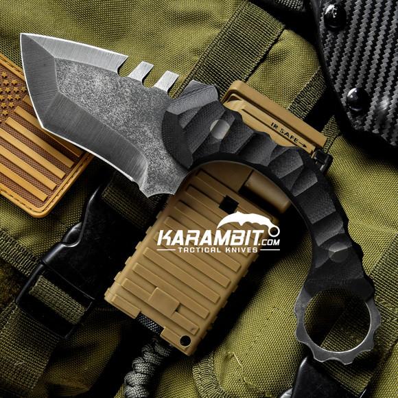 R.S. Knifeworks Black G10 Prototype Ringed Spade (RSKBlkRingedSpade)