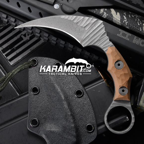 James Coogler's Tan Stonewashed Juggernaut Karambit (JCooglerJuggrTanSWKbit)