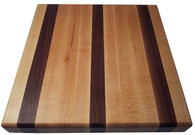 Walnut & Rock Maple Edge Grain Butcher Block Cutting Board by Armani Fine Woodworking