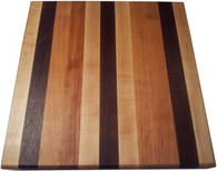 Edge Grain Butcher Block Cutting Board with Walnut, Cherry, and Hard Rock Maple - Armani Fine Woodworking