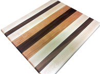 Walnut, Cherry, & Rock Maple Edge Grain Butcher Block by Armani Fine Woodworking