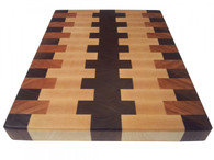 Walnut, Cherry, & Rock Maple End Grain Butcher Block Cutting Board by Armani Fine Woodworking