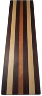 Edge Grain Walnut, Cherry, & Rock Maple Butcher Block Bread & Cheese Cutting Board by Armani Fine Woodworking